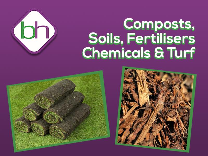compost, soil, fertilisers, chemicals & turf