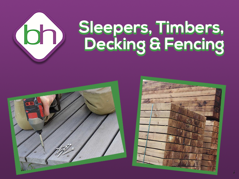 sleepers, timber, decking, fencing