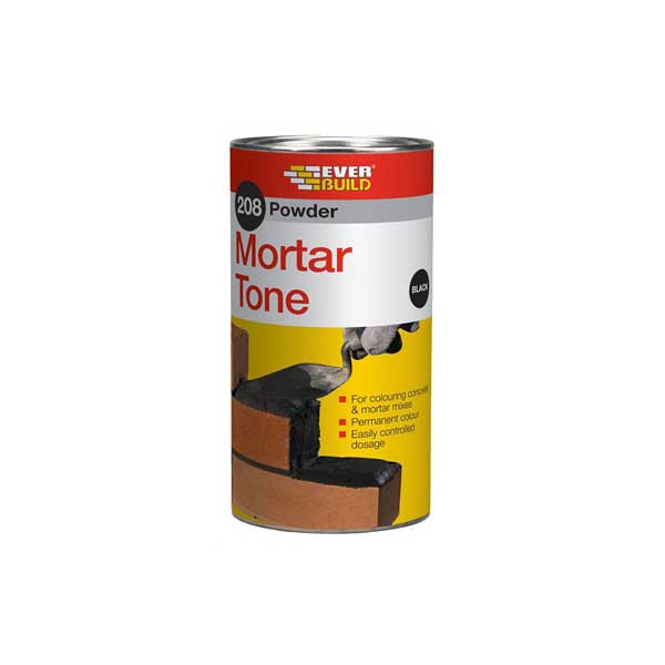 Mortar dye-buff, red, black