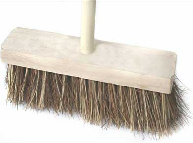 Standard coco broom complete with handle