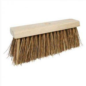 Standard stiff broom complete with handle